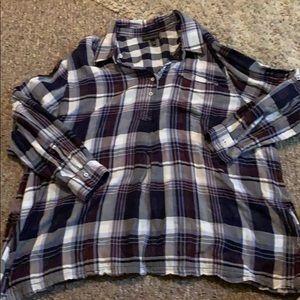 Lane Bryant plaid blouse
